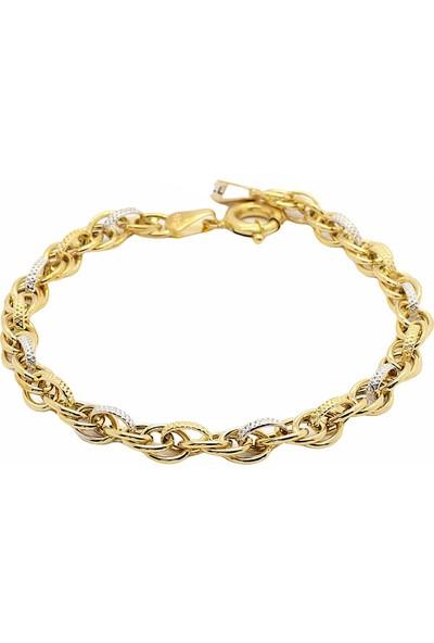 Cigold Cigold 14 Ayar Altın Taşsız Bileklik 20K2BLK0545015858