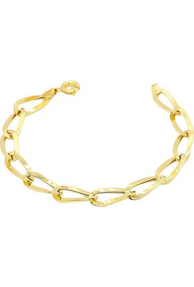 Cigold Cigold 14 Ayar Altın Taşsız Bileklik 20K2BLK0600025861