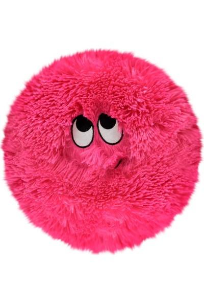 Selay Toys Peluş Emoji Yastık Flausy Puf Yastık 25 cm. Pembe 1003