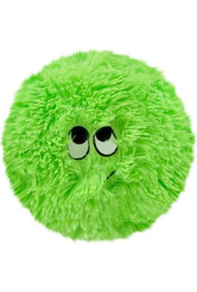 Selay Toys Peluş Emoji Yastık Flausy Puf Yastık 25 cm. Yeşil 1003