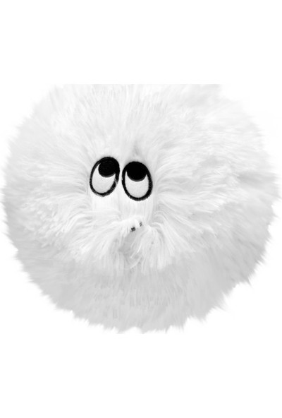 Selay Toys Peluş Emoji Yastık Flausy Puf Yastık 35 cm. Beyaz 1003