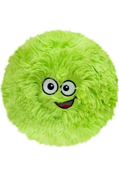 Selay Toys Peluş Emoji Yastık Flausy Puf Yastık 35 cm. Yeşil 1004