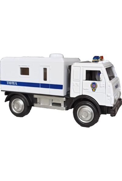 Popseker Polis Toma Metal Sesli Işıklı Çek Bırak Özellikli Oyuncak Polis Toma