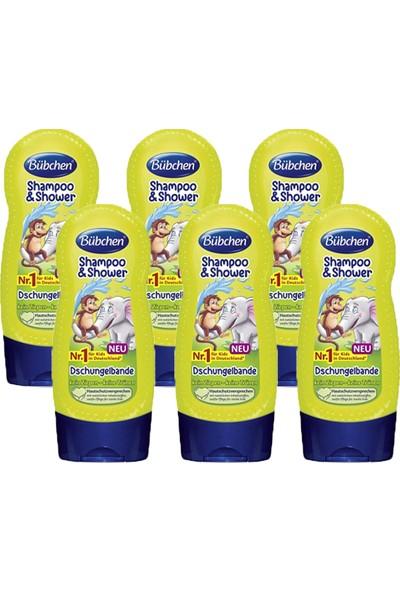 Bübchen Tropik Orman Çocuk Şampuanı ve Duş Jeli 230 ml x 6 Adet