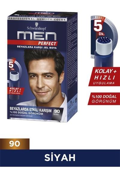 Men Perfect Saç Boyası 90 - Siyah 80 ml x 2 Adet