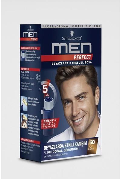 Men Perfect Saç Boyası 50 - Açık Kahve 80 ml x 2 Adet