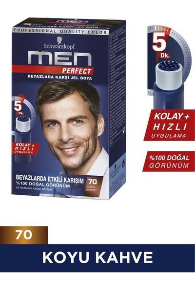 Schwarzkopf Men Perfect Jel Saç Boyası 70 Koyu Kahve