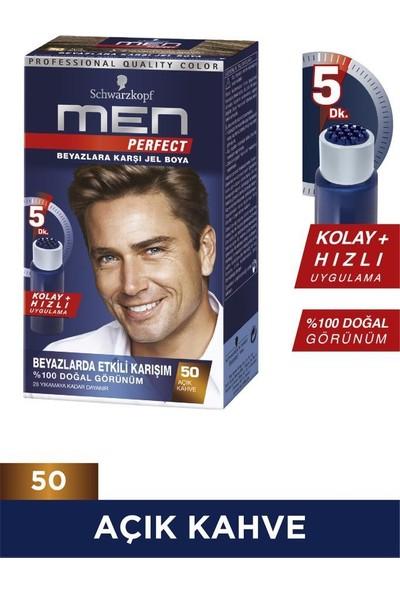 Schwarzkopf Men Perfect Jel Saç Boyası 50 Açık Kahve