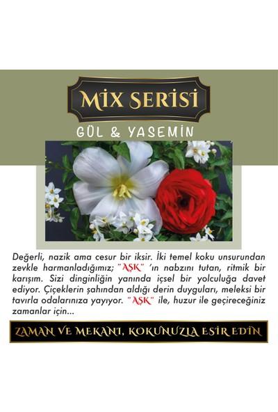 Aşk-ı Sermest Meczub Mix Serisi Gül & Yasemin Kokulu 8 ml Silindir Şişe Oto Kokusu