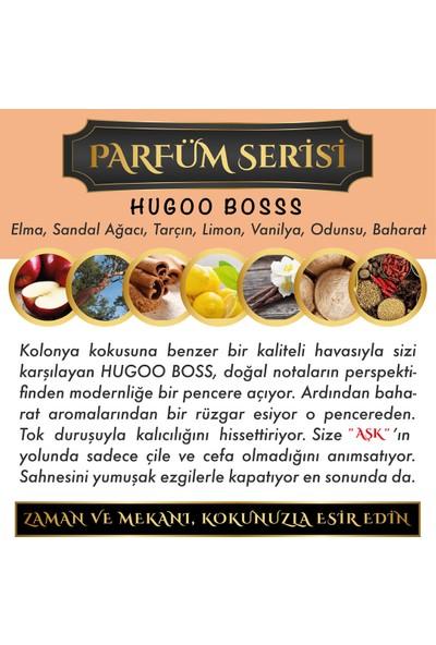Aşk-ı Sermest Ölümsüz Aşk Parfüm Serisi Hugoo Boss Kokulu 5 x 10 ml Üçgen Şişe Oto Kokusu