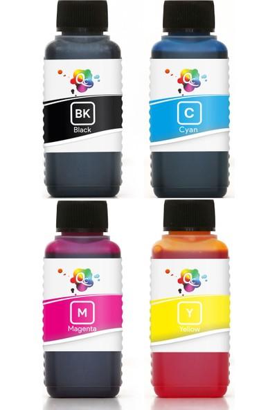 QC Lexmark X2350 Yazıcı Uyumlu Kartuş Mürekkebi PRO Serisi 100ml Set 4 Renk