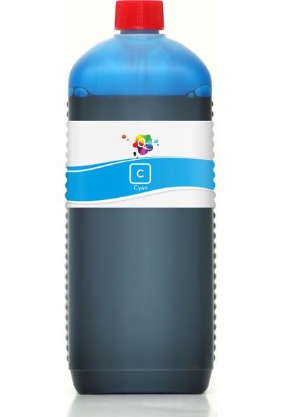 QC Lexmark X5490 Yazıcı Uyumlu Kartuş Mürekkebi PRO Serisi 1000ml C Dye-Mavi