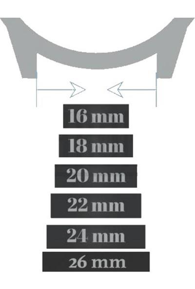 Esprit Saat Uyumlu 20MM Bordo Renk Akıllı Pimli Gümüş Renk Çelik Klipsli Crazy Hakiki Deri Saat Kordonu Kayışı