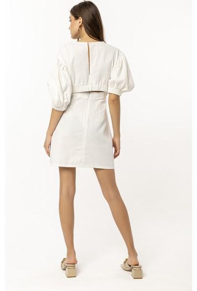 Coral Elbise Beyaz