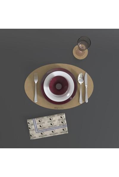 Kenzlife Kenzwood Amerikan Servis Supla Murli Mdfh 1 Kişilik 2 Parça Tabak ve Bardak Altlığı(1+1)