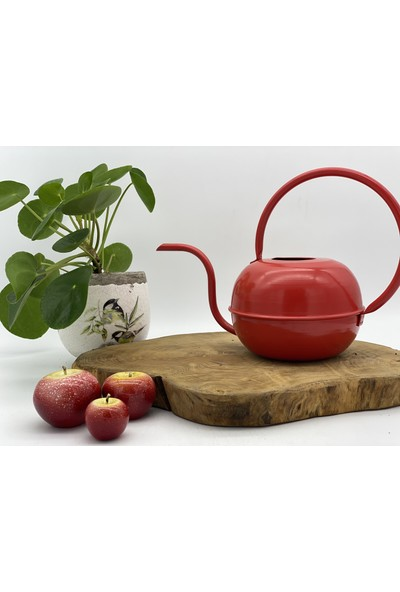 Afloday Bitki&çiçek Metal Sulama Kabı - Mat Kırmızı