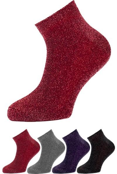 Fandd Kadın Simli Çorap Yarım Konç 4 Çift