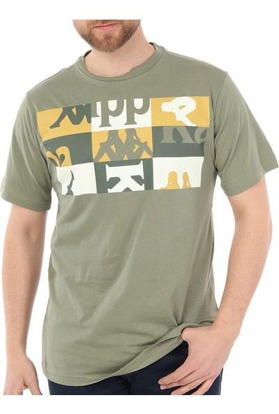 Kappa 304SDX0 Erkek Baskılı T-Shirt Cactus