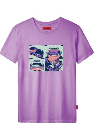 John Frank JFTCOOL47-CAR Erkek Baskılı T-Shirt Baskılı