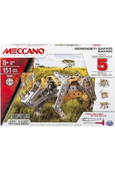 Meccano Serengeti 5 Modelli Vahşi Hayvan Metal Set