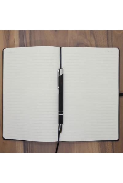 Ada Lazer Kişiye Özel Deri Tarihsiz Ajanda ve Kalem Seti