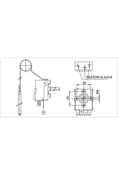 Imit TR2/540030 (0-40°c) 1 mt Isıtıcı Termostat - Çift Kontaklı