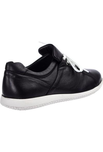 Celal Gültekin 20123 Kadın Günlük Siyah Deri Ayakkabı