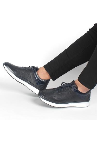 Celal Gültekin 1604 Erkek Lacivert Deri Günlük Ayakkabı