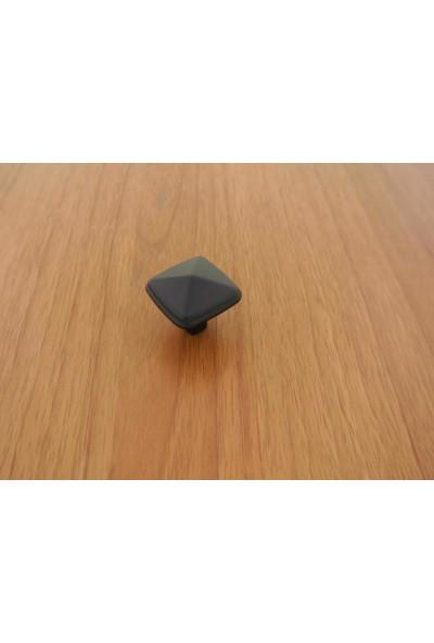 Sütun Mat Siyah Kulp Düğme