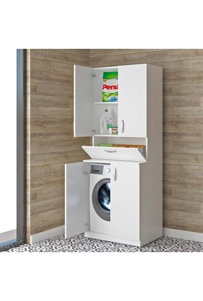 Dekorstilim Dolaplı Çamaşır Makinesi Mdf Banyo Dolabı