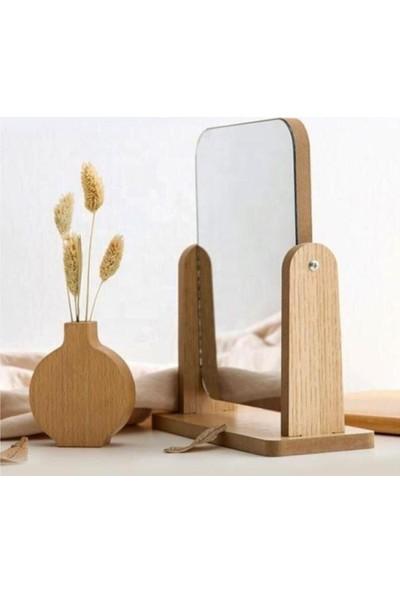 Hayveys Masaüstü Ahşap Standlı Ayarlanabilir Ayna 20 cm