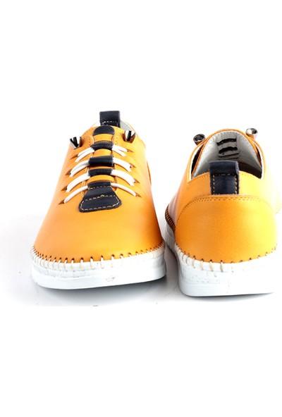 Libero L17.703 Bayan Deri Ayakkabı Sarı