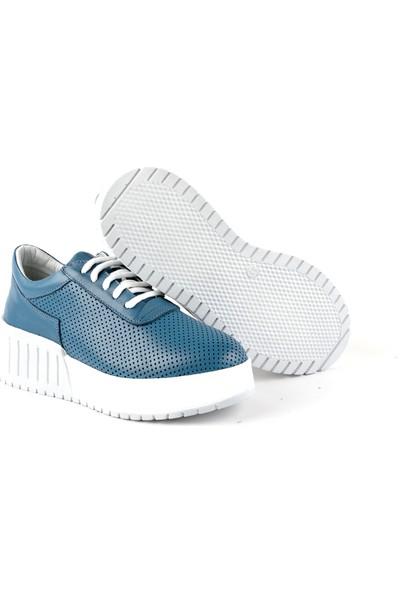 Libero L08.1039 Bayan Deri Ayakkabı Mavi