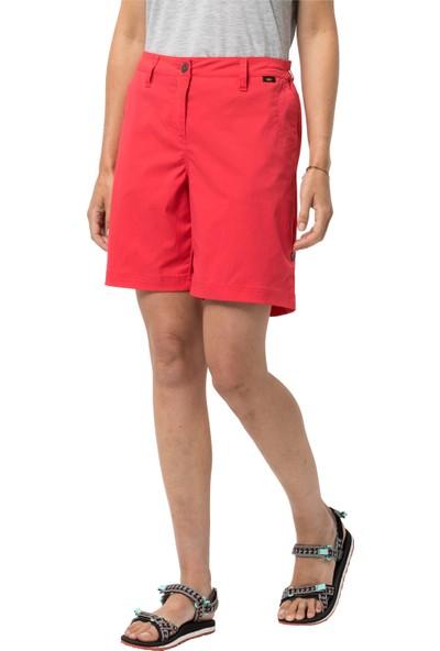 Jack Wolfskin Desert Kadın Outdoor Şort Tulip Red