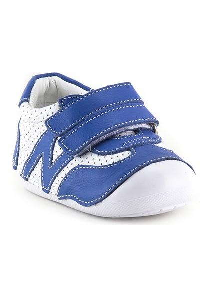 Minipicco Çocuk Sax-Beyaz Deri Anatomik Destekli Ilk Adım Ayakkabı