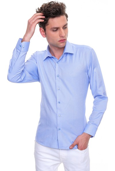 Morven Oxford Slimfit Gömlek Mavi