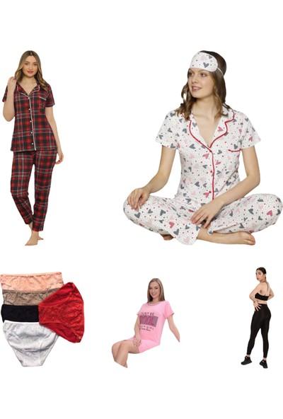 Trendmağaza Yazlık Pijama Takımı 5'li Set