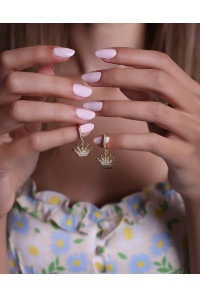 Trendy Takı 925 Ayar Gümüş Kraliçe Küpe