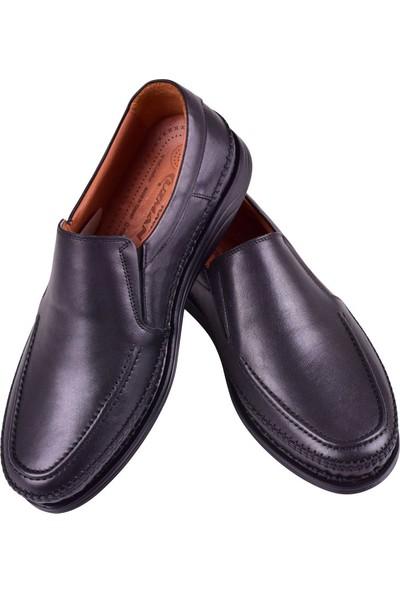Uzman Hakiki Deri Comfort Günlük Siyah Erkek Ayakkabı U-027