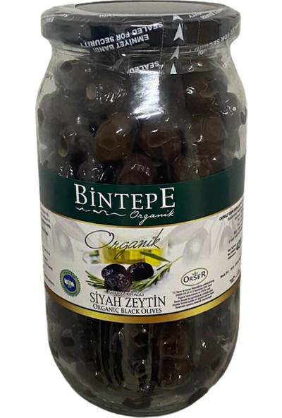 Bintepe Organik Bintepe Yeni Hasat Sızma Zeytinyağı 1 Lt + Bintepe Cam Kavanoz Siyah Zeytin 730 gr