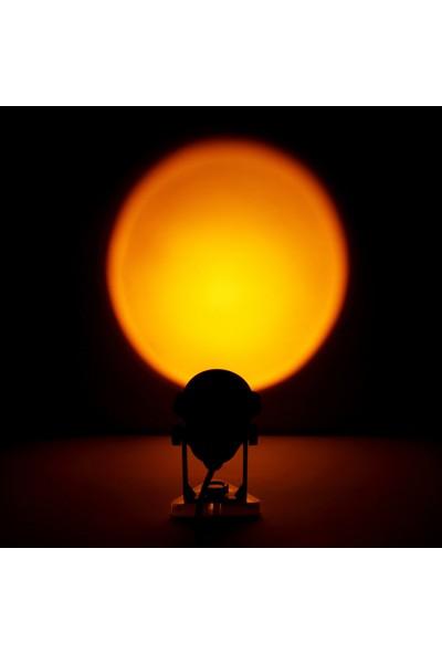 Fairy Gün Batımı Projeksiyon Lambası LED - Gün Batımı Kırmızısı (Yurt Dışından)