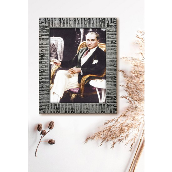 Mia Pera Çerçeveli Atatürk Poster Tablo (23 x 29 Cm)