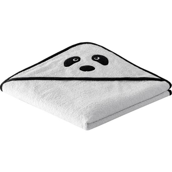 Yataş Bedding Pans Kundak Havlu %100 Pamuk Kundak Havlusu 450 Gr/m² Kundak Havlusu Siyah Biyeli Kundak Havlusu Siyah ve Beyaz 75 x 75 cm