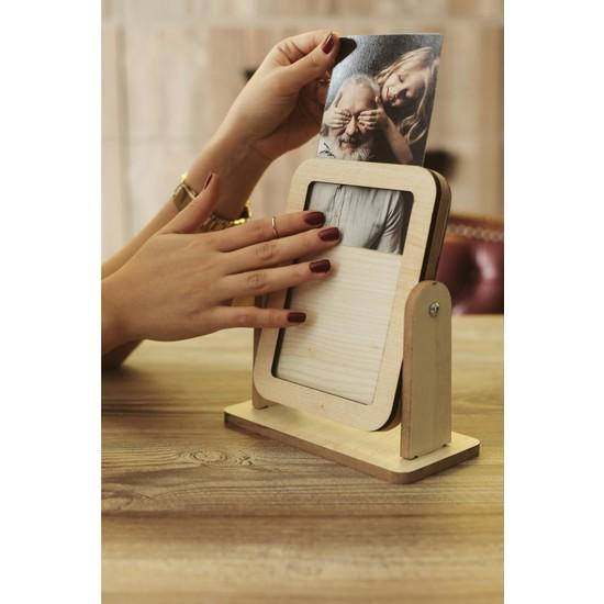 Dekolia Special Mirror Fotoğraf Çerçeveli Masaüstü Aynası Temasız