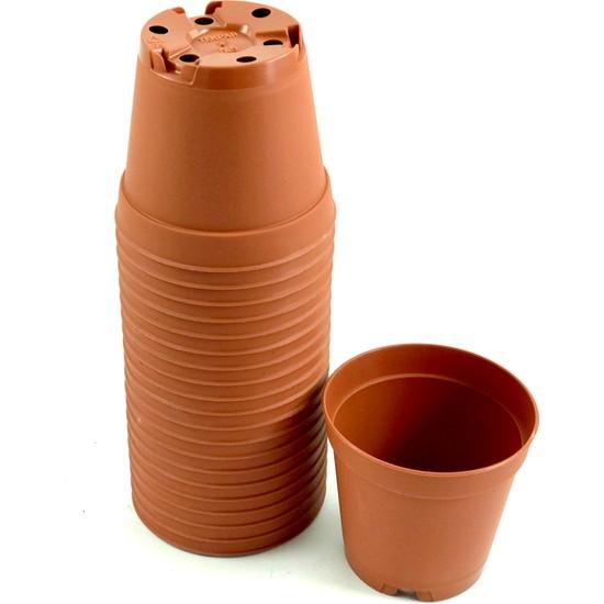 Ünal Kaktüs 5,5 cm Mini Plastik Saksı 20'li