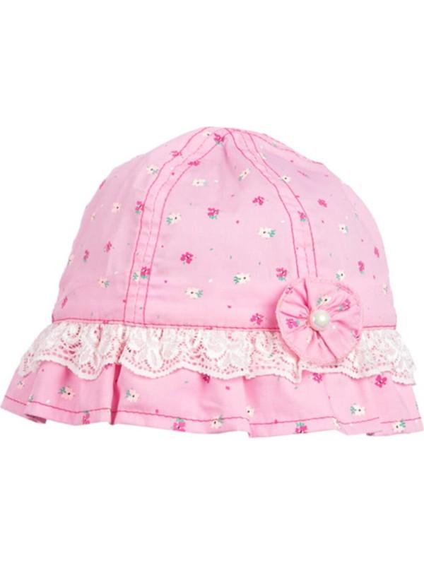 Kız Bebek Desenli Fötr Şapka 1-2 Yaş
