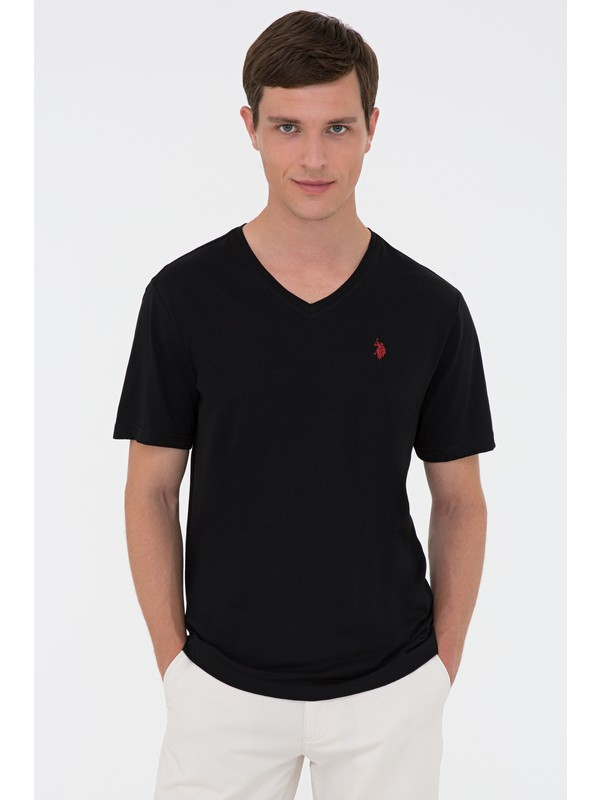 U.S. Polo Assn. Siyah T-Shirt Basic 50232305-VR046