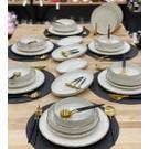 Pm Leonardo Dali 24 Parça 6 Kişilik Yemek Takımı Altın File