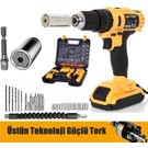 Sturdy Power Tools 24 V 5 A Darbeli Professional 24 PARÇA Şarjlı Vidalama Matkap + 7 - 19 Çok Amaçlı Lokma Ucu