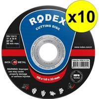 Rodex SRM10115N Metal, Inox, Paslanmaz Çelik Kesme Taşı 115MM 10 Adet